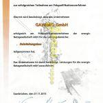 GAWARO GmbH Energis Präqualifizierung