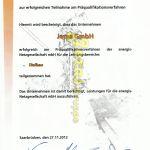 Jeras GmbH Energis Präqualifizierung